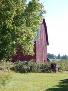 The original barn on the Kroupa farm.